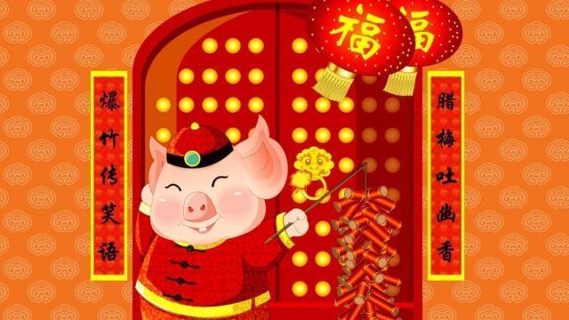 2019年祝福语,2019春节祝福语锦集,金猪迎春到,家家过年好!