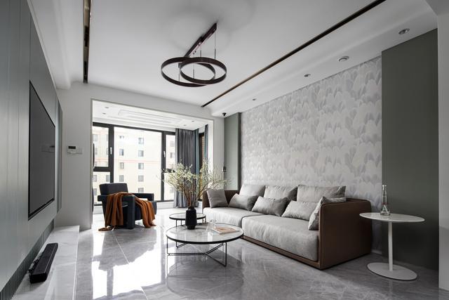 二手房装修,厦门国贸蓝海二手房翻新装修:140平三房两厅现代风格装修设计