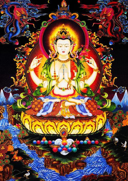 财神寓意,民间流传的藏传佛教的5色财神