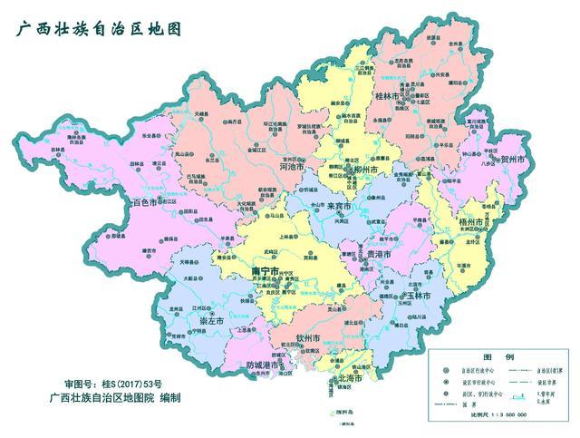 广西面积23万公顷,人口数量约五千万,在广西省谁发展前景较大