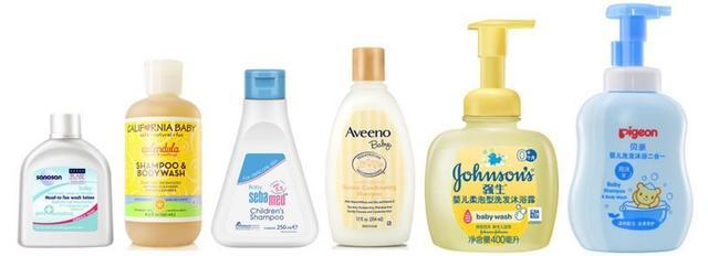 婴儿洗发水,6款洗发水分析(加州宝宝、施巴、哈罗闪、贝亲、强生、艾惟诺)