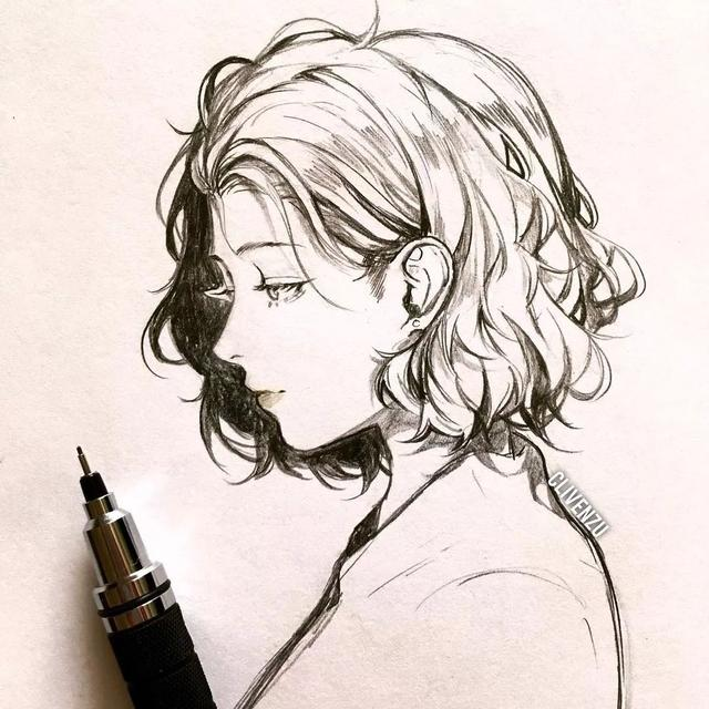 美女漫画图片,干货|超有感觉的动漫美少女线描