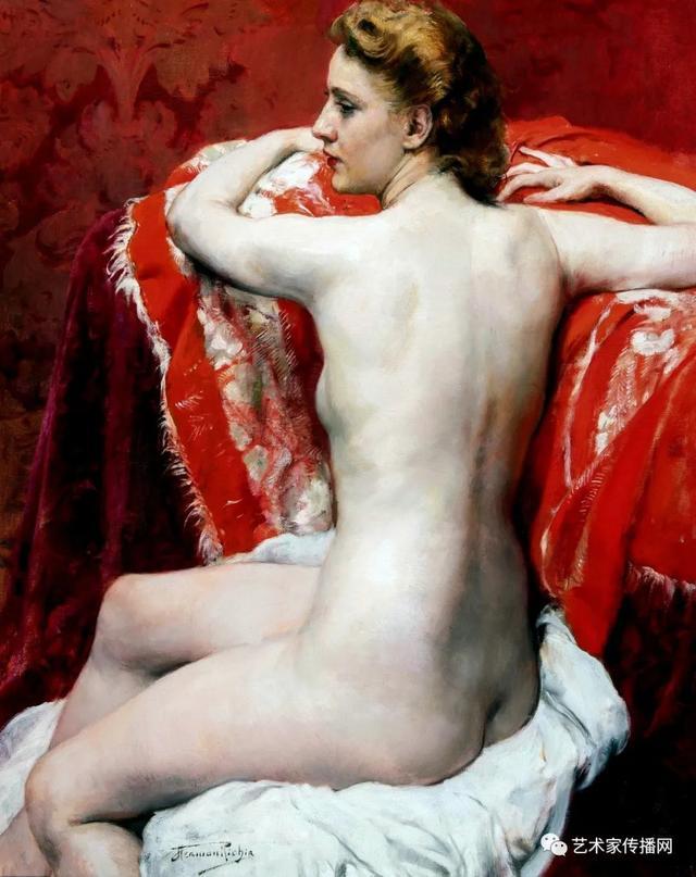 人体艺术图片,比利时艺术家女人体油画,楚楚动人,不止是笔触之美