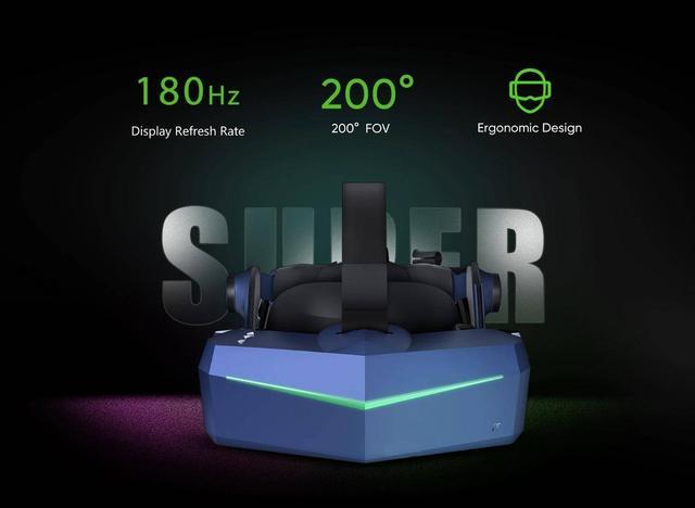 vr显示,Pimax推出新款VR显示器:支持180Hz刷新率