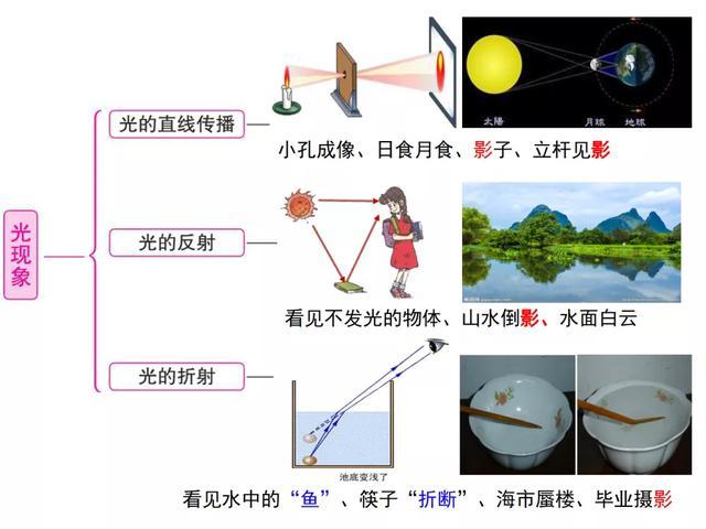 初中物理关于光现象专题复习