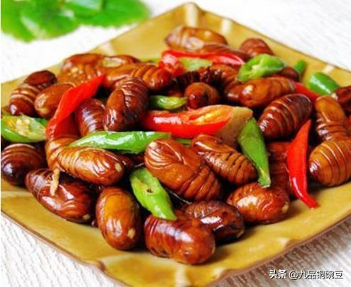 茧蛹的做法,【家常炒茧蛹】超简单的家庭营养菜,做起来!