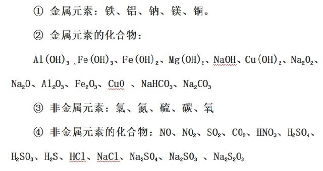 「知识总结」高中化学必修主要知识点