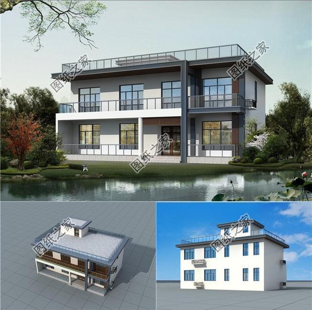 别墅装修设计,平顶别墅设计,你家想建几层的?可以仔细看看