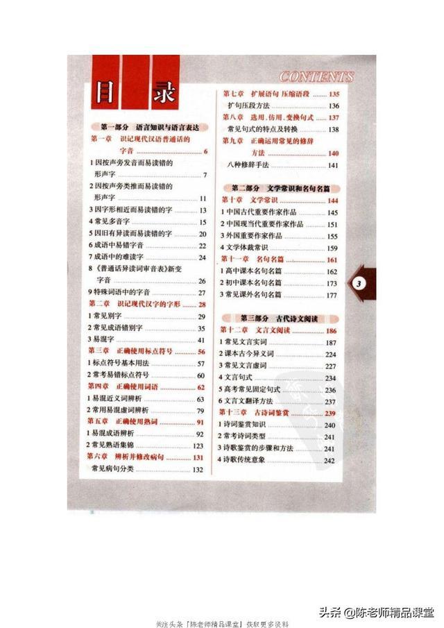 253页pdf 高中语文知识全表
