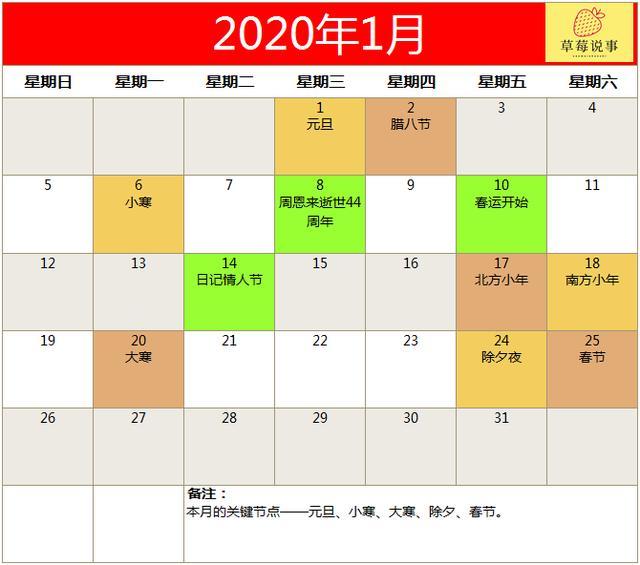 营销策划活动,《2020全年营销日历》