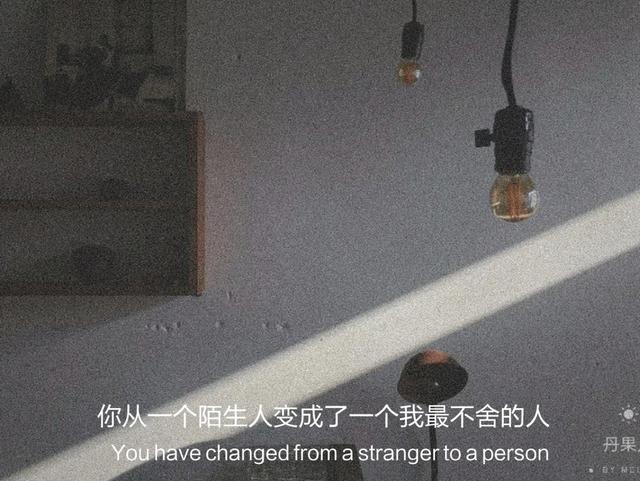 不舍的句子,文案:你从一个陌生人变成了一个我最不舍的人