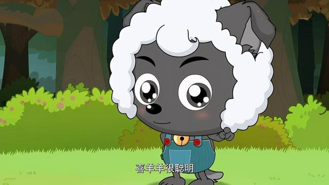 沸羊羊图片,喜羊羊与灰太狼:小灰灰的模仿秀,沸羊羊有胡须,女性化最甜美