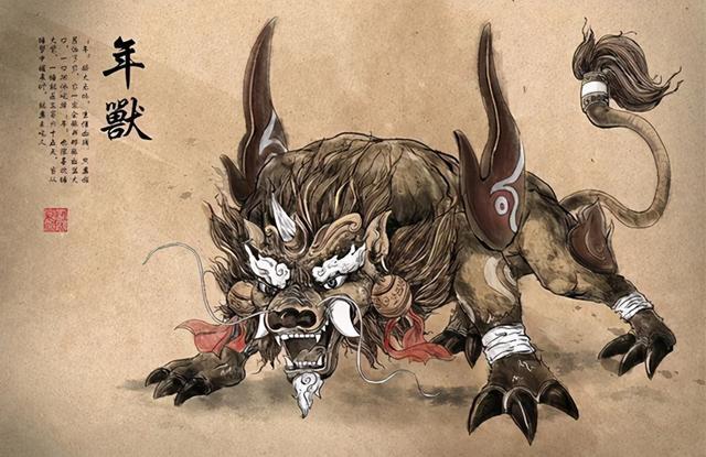 """年的寓意,春节系列:太古凶兽""""年""""与年关的来历,过年原来是这个意思"""