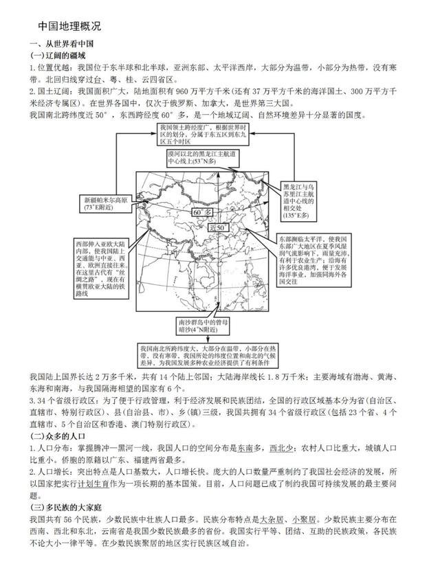 「高考」这些图包含高中《中国地理》所有重难点