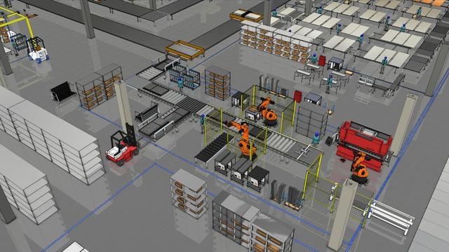 """VR工厂,数字化工厂三维投影 VR视野下的""""人-机-环""""虚拟仿真"""