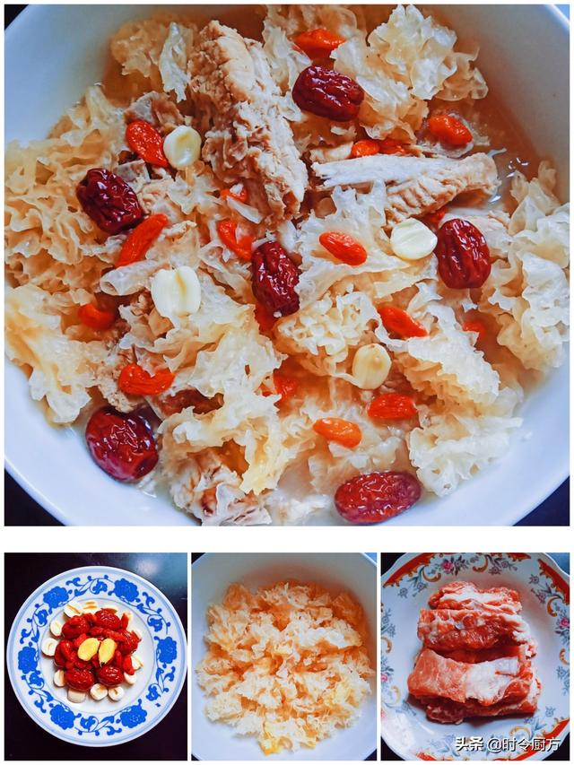 银耳莲子红枣汤的做法,太油腻不太好!排骨莲子银耳红枣枸杞汤,清淡爽滑微甜可口