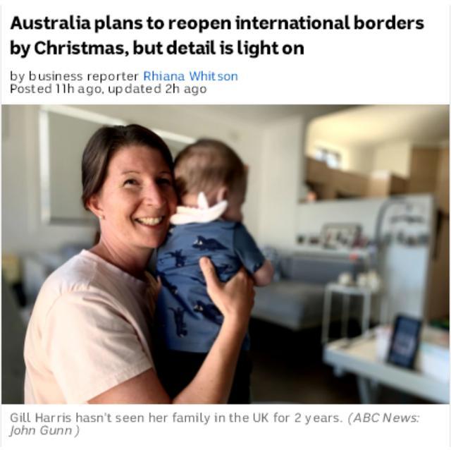 澳国境开放未知 华人家庭因旅行限令无法团聚
