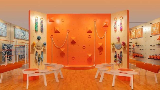 奢侈品店面设计,爱马仕开健身馆,有钱人的设计就是这么朴实而奢华