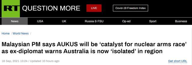 """澳前外交官发出警告:澳大利亚现在""""被亚洲和欧洲孤立"""""""