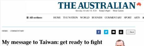 """澳前总理鼓吹""""给台湾的信息是准备好战斗"""",网友:退休了就好好待着吧"""