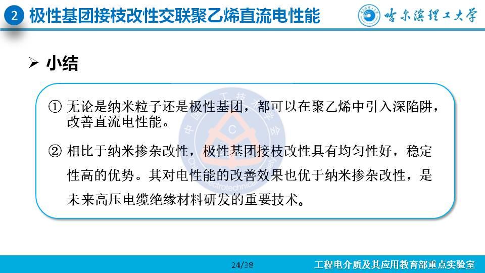 哈尔滨理工大学杨佳明副教授:深陷阱改善交联聚乙烯电性能的研究