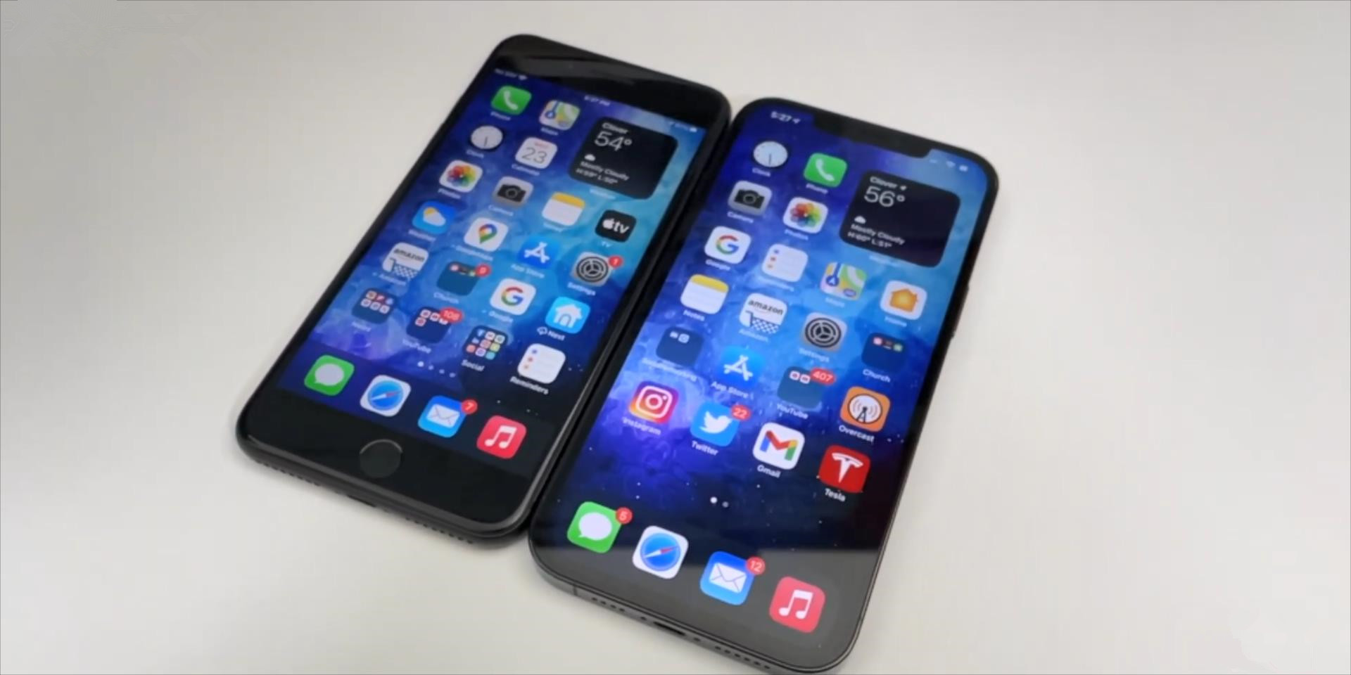 iPhone12ProMax和iPhone8Plus真机对比