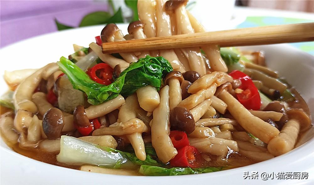 【素炒蟹味菇】做法步骤图 味道特别的鲜美 爽口滑嫩好吃下饭