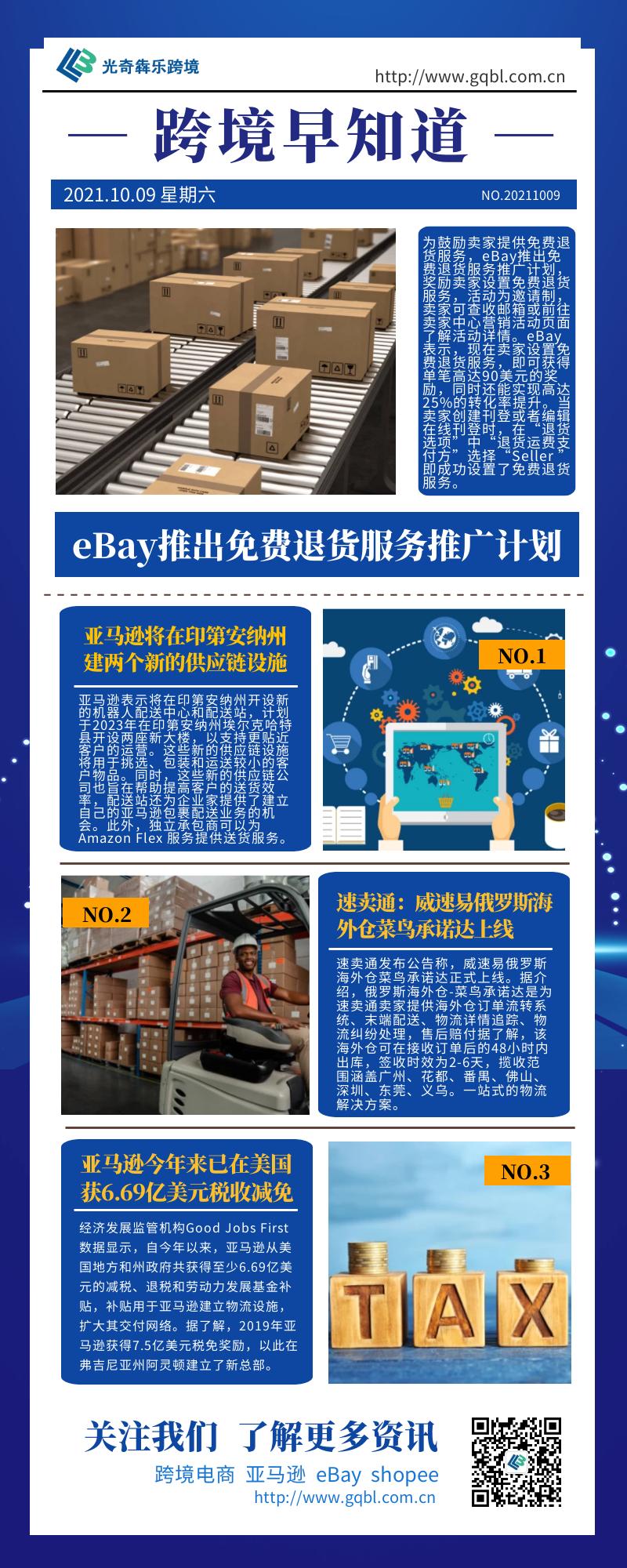 eBay推出免费退货服务推广计划