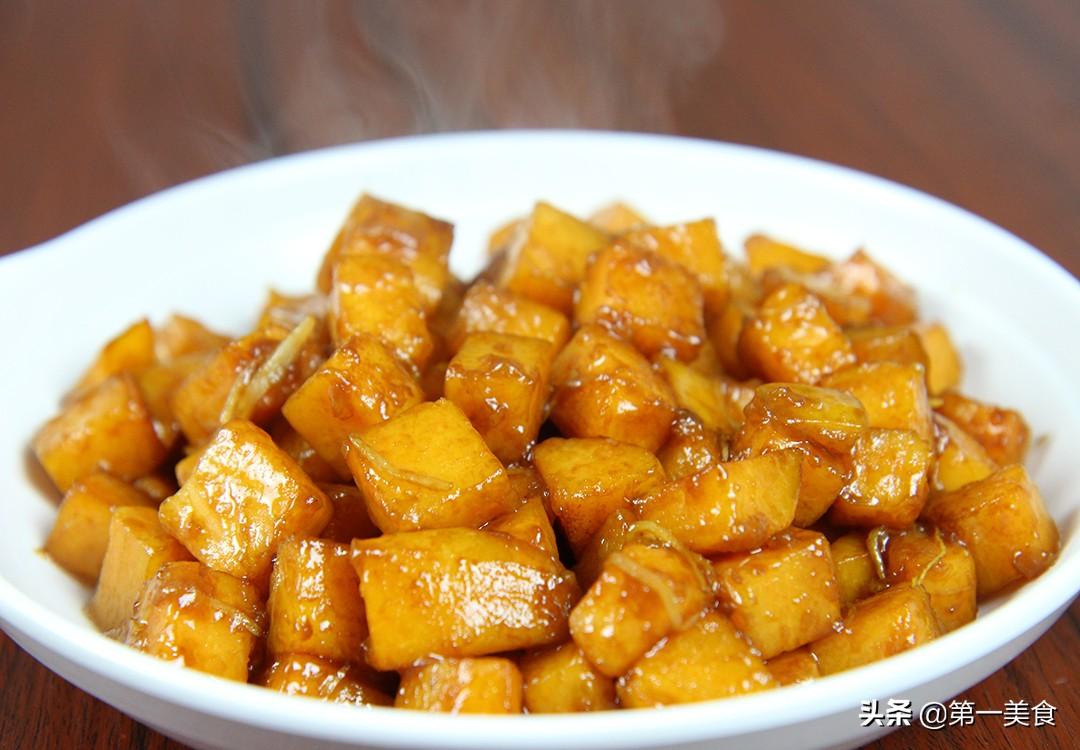 【姜丝红薯】做法步骤图 外酥里糯 清甜好吃